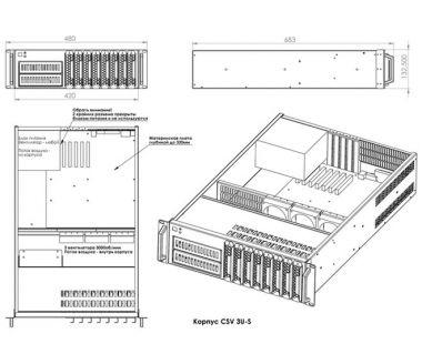 Серверний корпус CSV 3U-S
